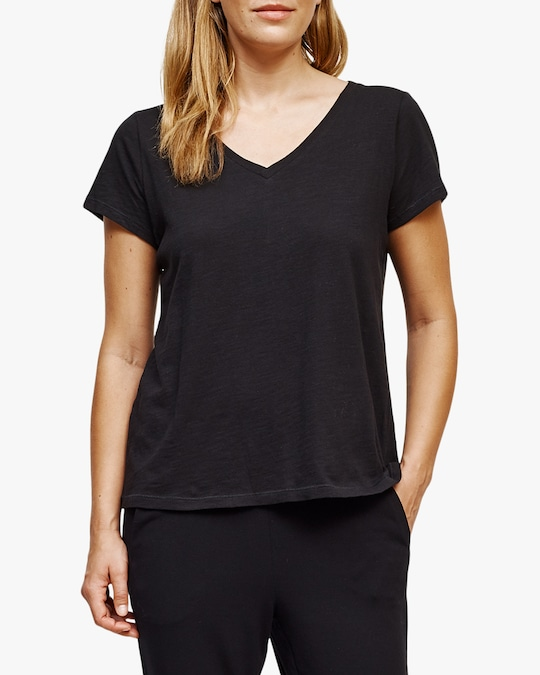 Eileen Fisher Short-Sleeve V-Neck Tee 0