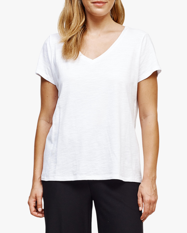 Eileen Fisher V Neck Short-Sleeve Tee 1