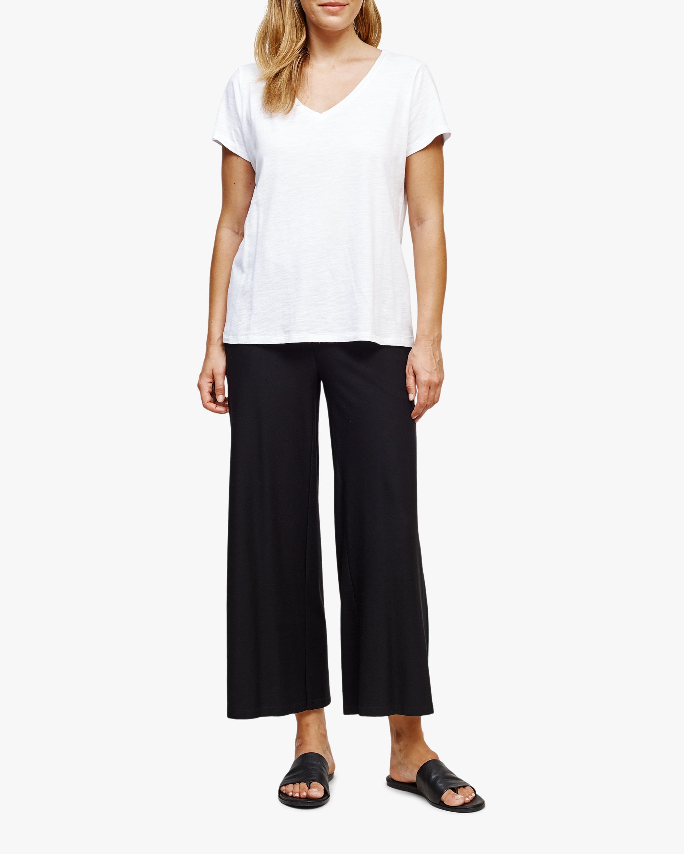 Eileen Fisher Short-Sleeve V-Neck Tee 1
