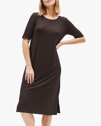 Eileen Fisher Round Neck Short-Sleeve Tee Dress 2