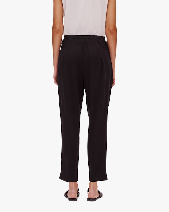 Eileen Fisher Tapered Side-Slit Pants 1