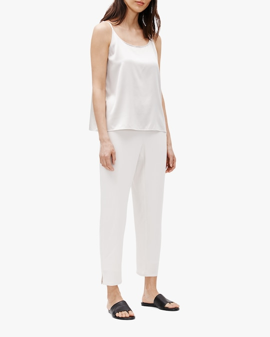 Eileen Fisher Tapered Side-Slit Pants