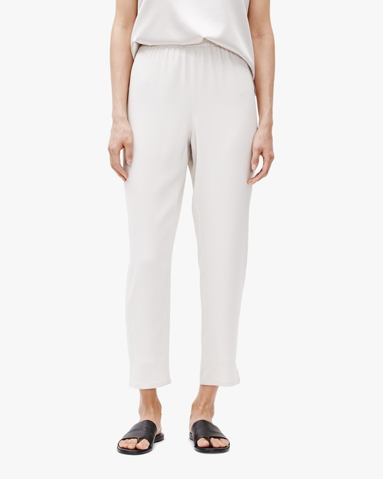Eileen Fisher Tapered Side-Slit Pants 0