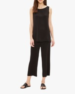 Eileen Fisher Bateau Neck Long Tank 0