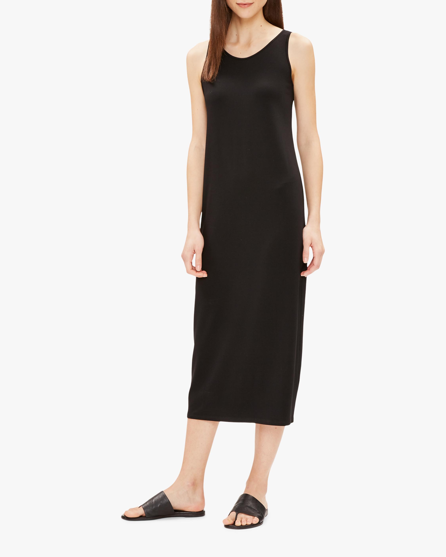 Eileen Fisher Scoop-Neck Maxi Dress 1