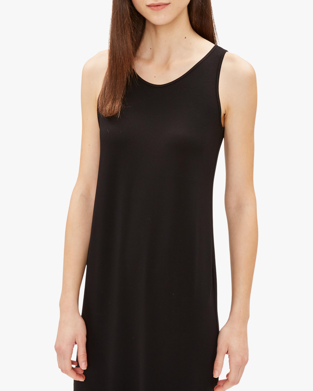 Eileen Fisher Scoop-Neck Maxi Dress 2