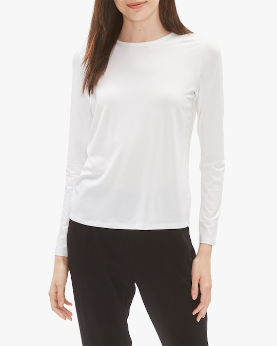 Eileen Fisher Crew Neck Top 0