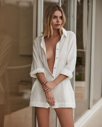 The Lauren Button-Down Romper