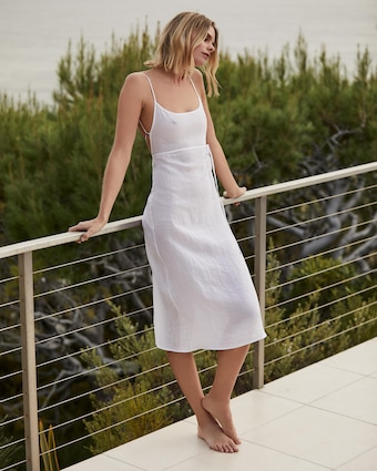 Anemos The KM Tie Midi Dress 2