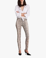 Hudson Barbara High-Waist Super Skinny Leather Pants 1