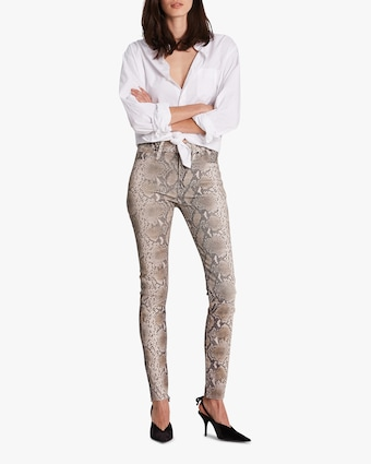 Barbara High-Waist Super Skinny Leather Pants