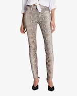Hudson Barbara High-Waist Super Skinny Leather Pants 2