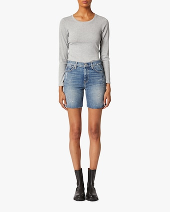 Hudson Hannah Mini Biker Denim Shorts 2