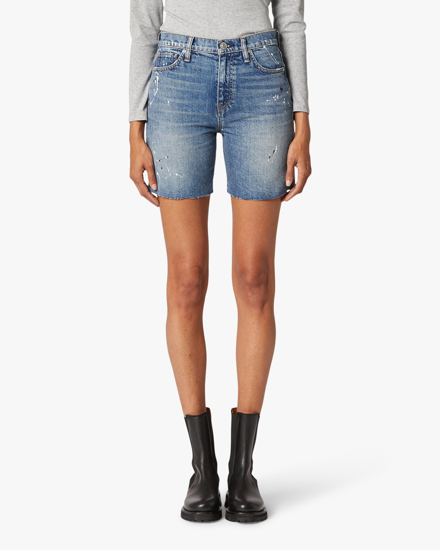 Hudson Hannah Mini Biker Denim Shorts 2