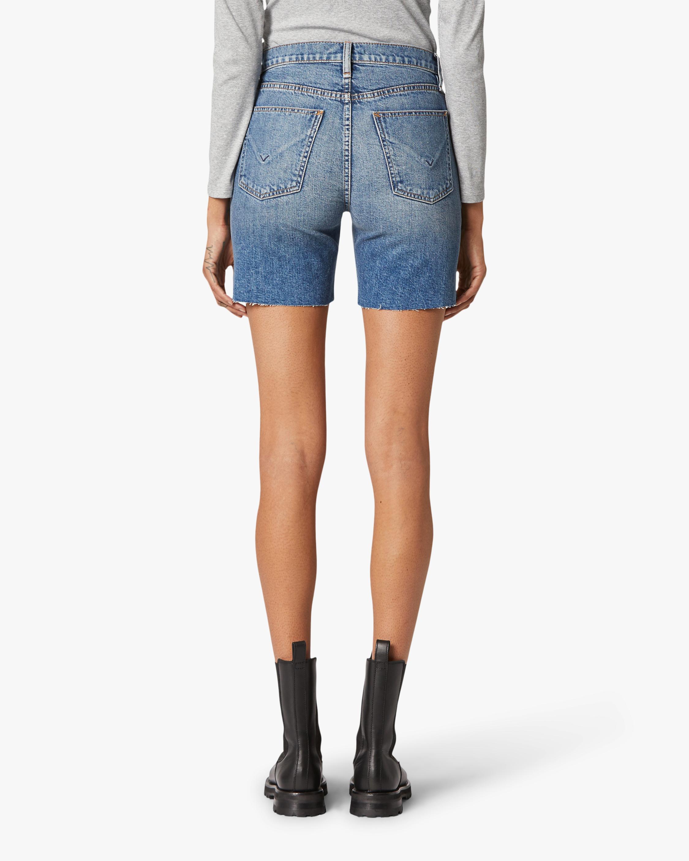 Hudson Hannah Mini Biker Denim Shorts 4