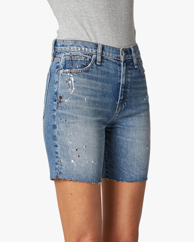 Hudson Hannah Mini Biker Denim Shorts 5