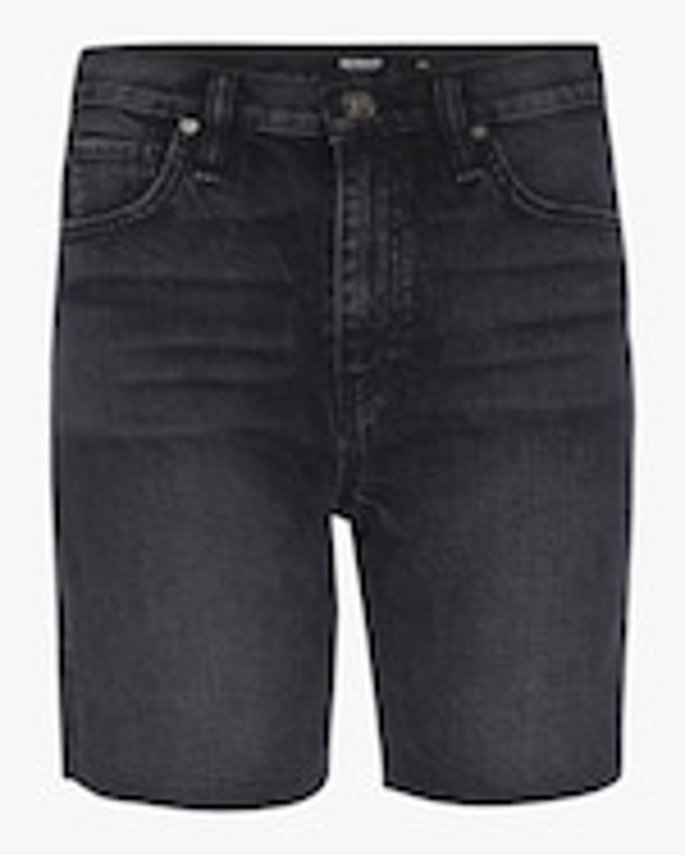 Hudson Hannah Mini Biker Denim Shorts 0