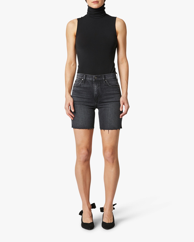 Hudson Hannah Mini Biker Denim Shorts 1