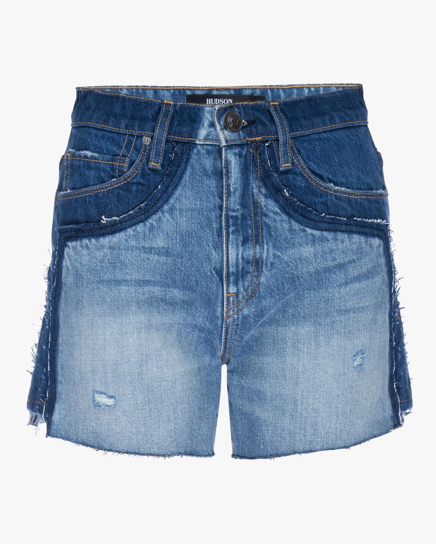 Hudson Double Jean Cut-Off Shorts 0