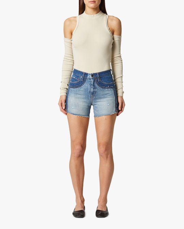 Hudson Double Jean Cut-Off Shorts 1