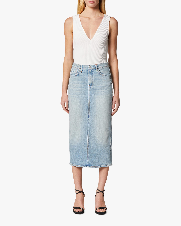 Hudson Paloma Denim Pencil Skirt 2