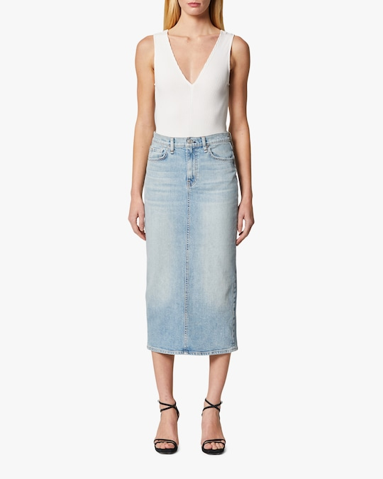 Hudson Paloma Denim Pencil Skirt 1
