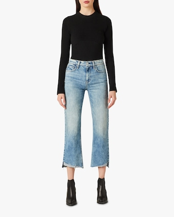 Rema High-Rise Straight Cropped Jeans