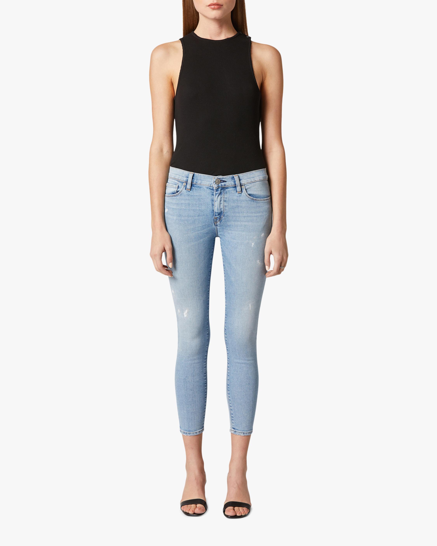 Hudson Nico Mid-Rise Super-Skinny Crop Jeans 0