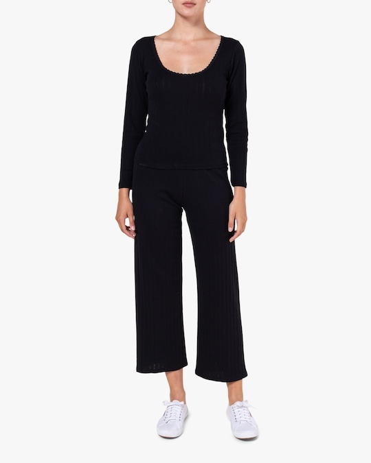Leset Black Burnout Pants 1