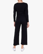 Leset Black Burnout Pants 4