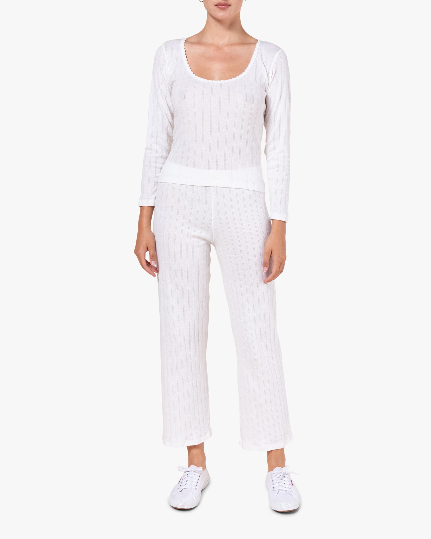White Burnout Pants