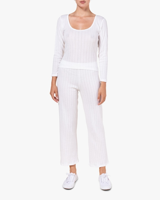 Leset White Burnout Pants 1