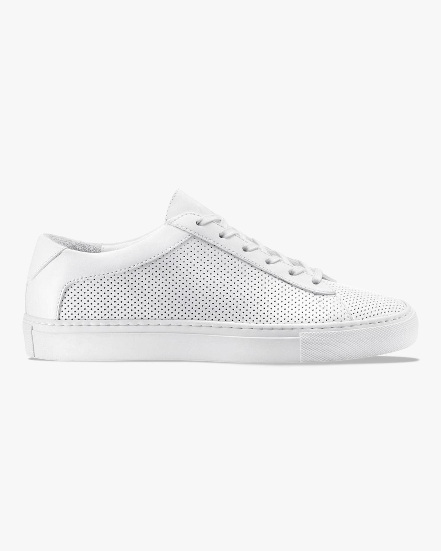 KOIO Triple White Perforated Capri Sneaker 1