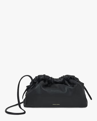 Mansur Gavriel Black Flamma Mini Cloud Clutch 1