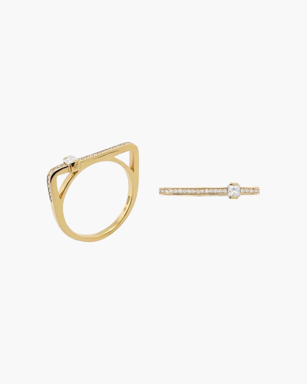 Colette Jewelry Princess-Cut Diamond Bar Ring 0