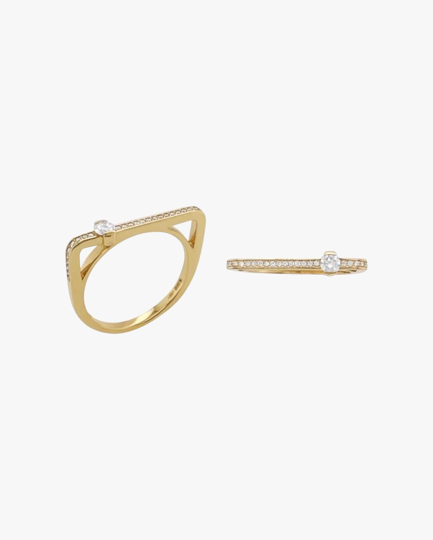 Colette Jewelry Round-Cut Diamond Bar Ring 0