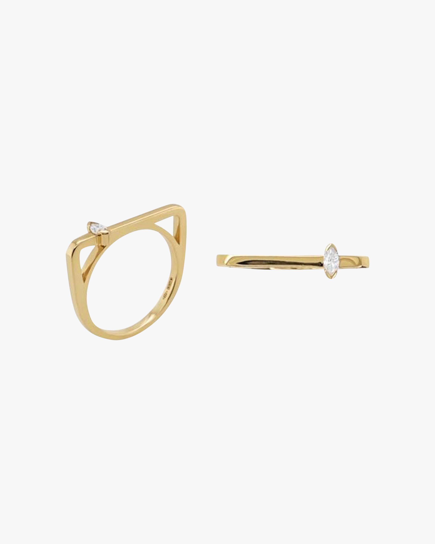 Square Marquise-Cut Diamond Bar Ring