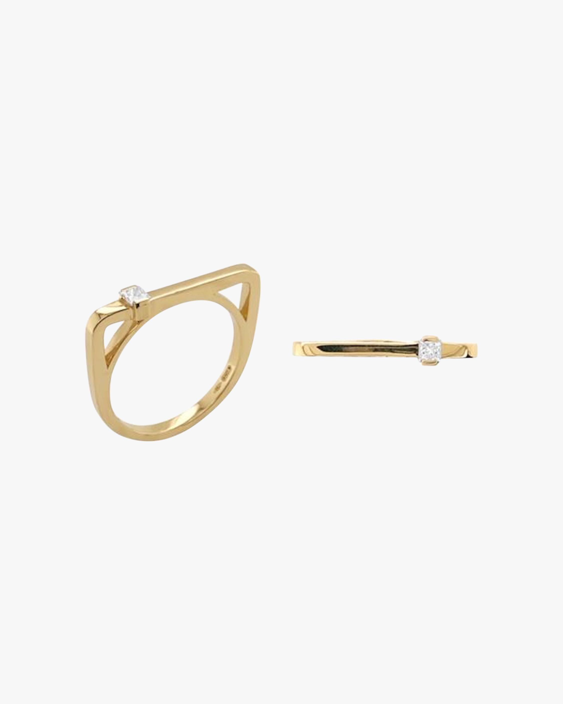 Colette Jewelry Square Princess-Cut Diamond Bar Ring 1