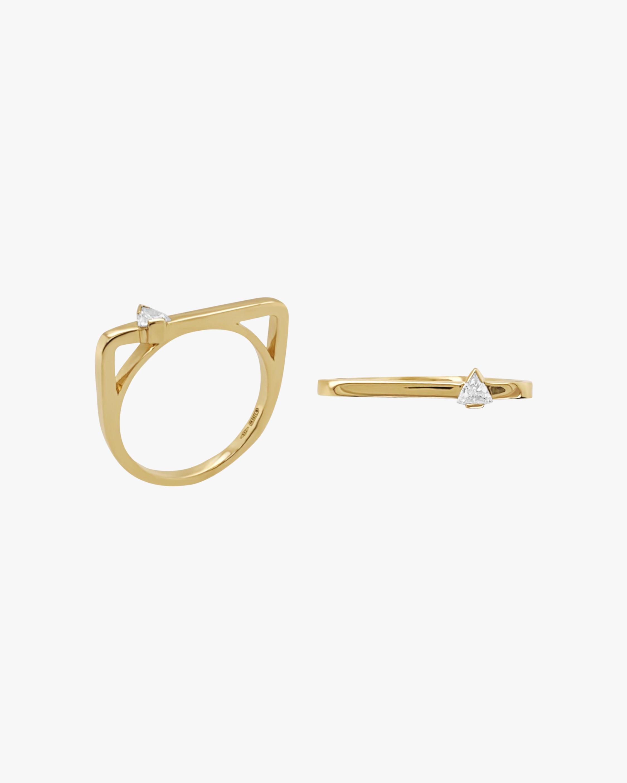 Colette Jewelry Square Trilliant-Cut Diamond Bar Ring 0