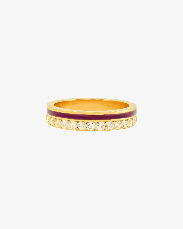 Colette Jewelry Red Enamel & Diamond Band 0