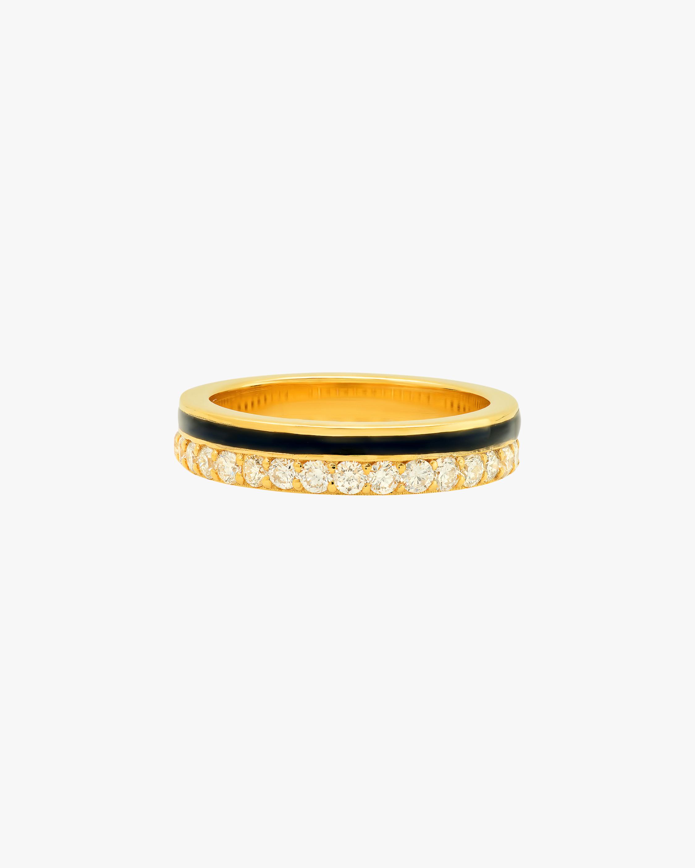 Colette Jewelry Black Enamel & Diamond Band 1