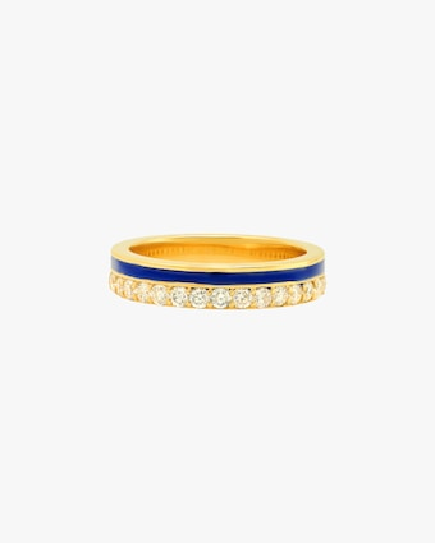 Colette Jewelry Blue Enamel & Diamond Band 1