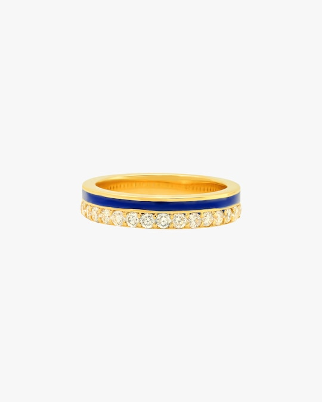 Colette Jewelry Blue Enamel & Diamond Band 0