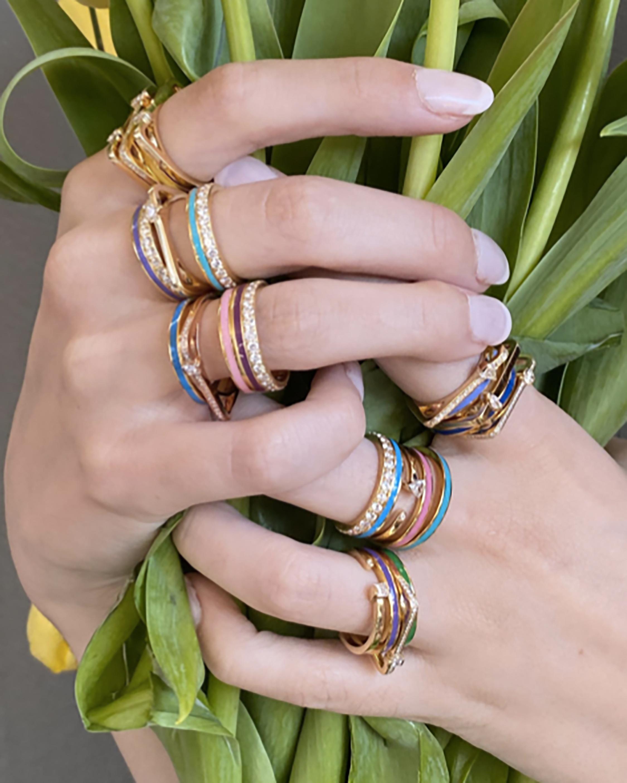 Colette Jewelry Blue Enamel Band 1