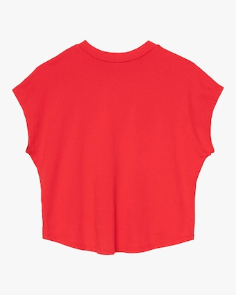 Engine Red Cropped Tee