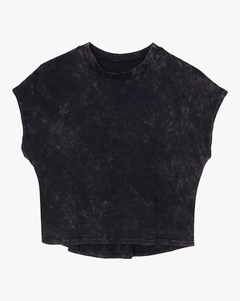 Mineral Black Cropped Tee
