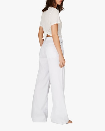 White Wide-Leg Pants