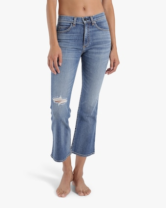 ASKK High-Rise Cropped Boot Cut Jeans 2