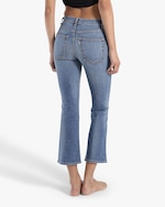 ASKK High-Rise Cropped Boot Cut Jeans 3