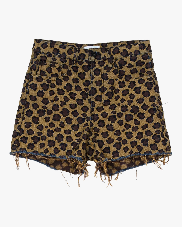ASKK Leopard High-Rise Shorts 1